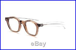 Vintage 1960s eyeglasses in brown crystal with straight arms hotter than Tart W6