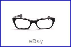 Vintage 1960s mens eyeglasses Selecta Mod Ambassador in Black Wood 48-20mm EG24