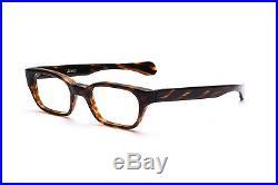 Vintage 1960s mens eyeglasses Selecta Mod Ambassador in Olive Amber 48-20mm