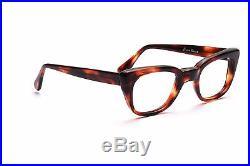 Vintage 1960s mens eyeglasses Selecta Mod. Rocky in Demi Amber in 50-24mm EG 1-2