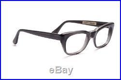 Vintage 1960s mens eyeglasses Selecta Mod. Rocky in Grey Smoke in 50-20mm EG 27