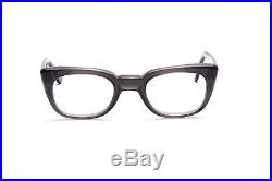 Vintage 1960s mens eyeglasses Selecta Mod. Rocky in Grey Smoke in 50-24mm EG 29