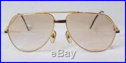 Vintage 1980's CARTIER LACQUER Sunglasses Eyeglasses Lunettes Gold Plated Frame