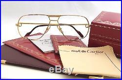 Vintage 1980s CARTIER TANK L. C Luxury Eyeglass Frame 59mm Made In France
