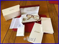 Vintage 1980s Cartier De Paris eyeglasses + original box