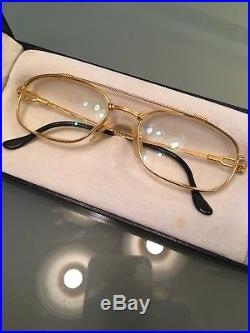 Vintage 1980s FRED Paris Eyeglasses Sunglasses Force 10 Real Gold Plated W Case