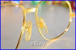Vintage 1986 CARTIER ROMANCE Eyeglass Frames 56-16 18K Gold Plated Serial 795265