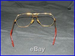Vintage 1988 Cartier Gold Eyeglass Frames Sz 62-14-140 Made In Paris France
