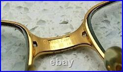 Vintage 1988 Cartier Panthere 22kt Gold Plated Eyeglasses Sunglasses France
