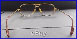 Vintage 1988 France Cartier 135 59 12 Eyeglasses Gold Filled Frame