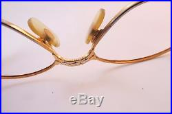 Vintage ©1989 24K gold filled eyeglasses frames Cartier Paris 56-17. 135 E069341