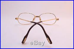 Vintage 1989 CARTIER PARIS 24K gold filled eyeglasses frames Size 54-17 France