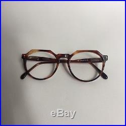 Vintage 1990s French Vintage Crown Panto Eyeglasses / Handmade In France
