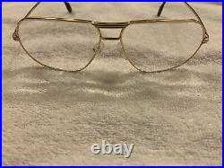 Vintage 1998 CARTIER TANK L. C Prescription Eye Glasses Platine 62-14 L