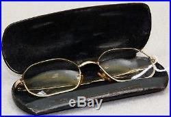 Vintage 1/20 12k GF SELECTA JUDY GLASSES FRAME Made in FRANCE withCASE 46-20 130