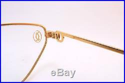 Vintage 24KT Cartier Paris eyeglasses frames NOS size 54-19 Sl 1237361 France