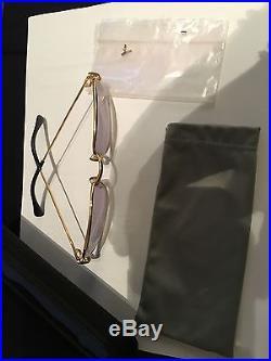 Vintage 24K gold filled Cartier Paris eyeglasses frames Serial 609069 54-16 EXC