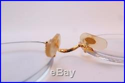Vintage 24K gold filled Cartier Paris eyeglasses frames rimless serial 2505431