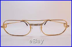 Vintage 24K gold filled eyeglasses frames Cartier Paris 55-20. 140 sl# 202933