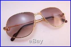 Vintage 24K gold filled eyeglasses frames Cartier Paris 59-14 140 sl # EO33216