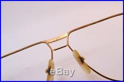 Vintage 24K gold filled eyeglasses frames Cartier Paris 62-14. 140 men's med/lar