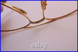 Vintage 24K gold filled eyeglasses frames Cartier Paris Santos Romance 61-18 140