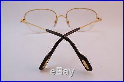 Vintage 24K gold filled eyeglasses frames Cartier Paris unworn NOS withcase 53-18
