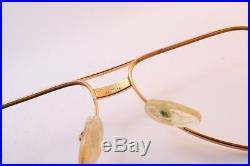 Vintage 24K gold filled eyeglasses frames Cartier Vendome Santos 56-14. 130