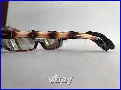 Vintage 40s 50s Faux Bamboo Sunglasses Cat Eye Pinup Eyeglasses Hawaiian Brown