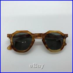 Vintage 50's Crown Panto Frame France Tortoise Shell Eyeglasses Thick 6 mm