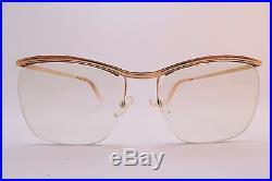 Vintage 50s 14K gold filled eyeglasses frames Amor France 145mm men's M KILLER