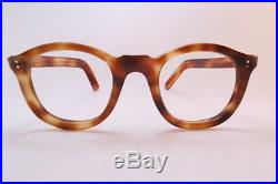 Vintage 50s 6mm acetate eyeglasses frames hand made in France