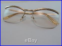 Vintage 50s AMOR Gold Filled Eyeglasses Frames Made in France Exc