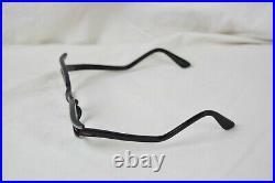 Vintage 50s Paris France Cat Eye Frame Only Black No Lens Eyeglasses RARE VTG
