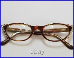 Vintage 60s Womens France cat Eye frames L. Evrard Twec glasses Eyeglasses frame