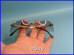 Vintage 70s Gold Plated Sterling Silver 925 Handmade In France Eyeglasses #30