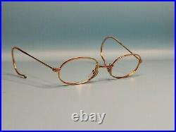 Vintage 70s Morel Gold Filled Oval Eyeglasses Frame France Made 44/18 #917