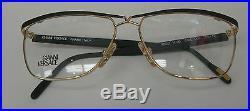 Vintage 80S Hard-to find Versace frame-eyeglasses Gold / Black two color choices