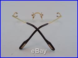 Vintage 80s CARTIER Rimless Gold Filled Eyeglasses Frames Made in France