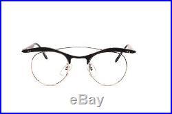 Vintage 80s black/golden Aluminium eyeglasses Mod. PLUTO by L. A. Eyeworks D5