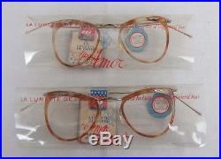 Vintage AMOR eyeglasses Frames NOS from France lot of 2 / paire lunettes 1950s