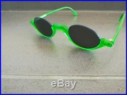 Vintage Alain Mikli Par Mikli 6070 Col 2112 Green Half Eye Hippy Sunglasses