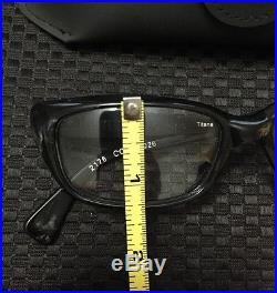 Vintage Alain Mikli Paris Titane Black Eyeglasses 2176 Col 1026 France