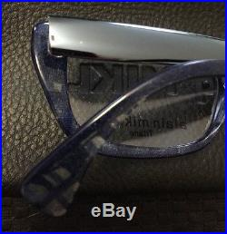 Vintage Alain Mikli Paris Titane Blue Pattern Eyeglasses 2176 Col 2120 France