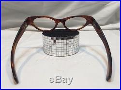 Vintage American Optical Turtle Cat Eye Unique Glasses Frames NOS! Wide Temple