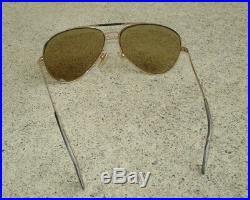 Vintage Amor 145 Gold Filled Metal Aviator Sunglasses Eyeglasses Frames France