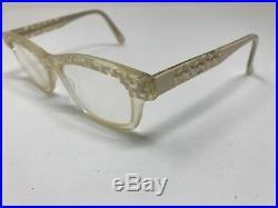 Vintage Anacole Eyeglass Frame Alex BL/CK 48-16-144 Made In France Crystal H203