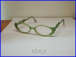 Vintage Anne Et Valentin Celeste Green Acetate Eyeglasses Frame Made In France