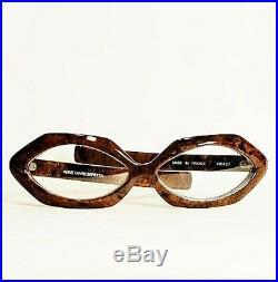 Vintage Anne Marie Beretta Brown Eyeglass Frames Made in France
