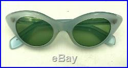 Vintage Atlas Blue Oval Cat Eye Sunglasses Eyeglasses Frames France
